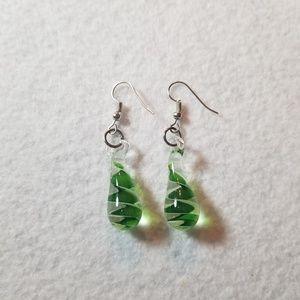 """2"""" Blown Glass Earrings"""